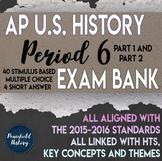 AP US History Period 6 Stimulus Based Multiple Choice Test Bank BUNDLE