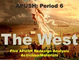 APUSH: The West - Five Analysis Activities and Materials (