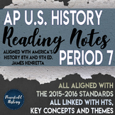 APUSH Period 7 Guided Reading Worksheets America's History Henretta