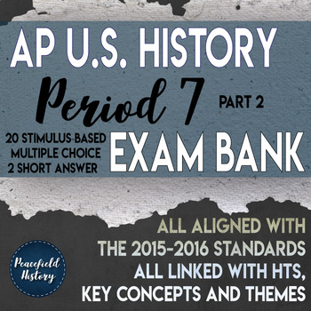 Apush Multiple Choice Questions Period 7 Worksheets