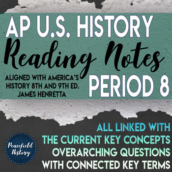 APUSH Period 8 Guided Reading Worksheets America's History Henretta