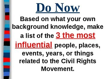 APUSH Period 8 Notes #8 - Modern Civil Rights Movement