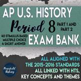 APUSH Period 8 Stimulus Based Multiple Choice Short Answer Test Bank BUNDLE