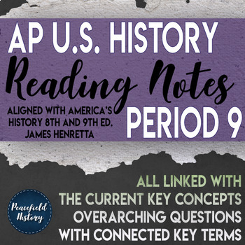 APUSH Period 9 Guided Reading Worksheets America's History Henretta