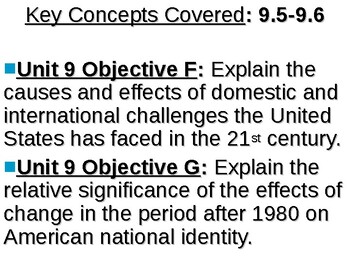 APUSH Period 9 Notes #3 - Clinton and W  Bush --> Present