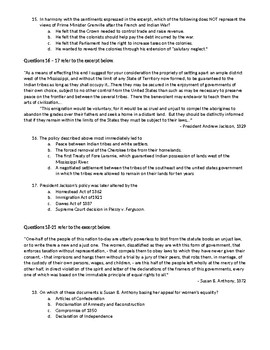 APUSH Periods 2-6 Multiple Choice Test