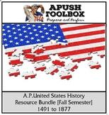 "APUSH ""Prepare and Perform"" Resource Bundle [Fall Semester]"