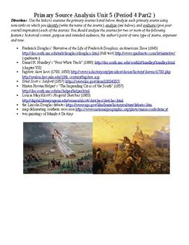 APUSH Primary Source Analysis Unit 5 (Period 4 Part 2)