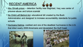 APUSH- Recent American History Powerpoint and Guided Notes