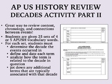 APUSH Review - Decades Activity Part II
