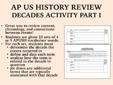 APUSH Review - Decades Activity Part I