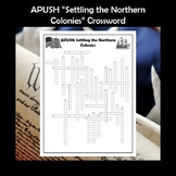 APUSH Settling the Northern Colonies Vocabulary Crossword Review