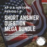 APUSH Short Answer Question (SAQ) Period 1-9 Test Bank Full Year Bundle