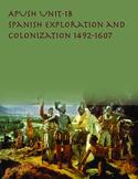 APUSH Unit 1 Spanish Exploration and Colonization