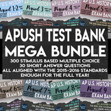 APUSH Stimulus Based Multiple Choice Short Answer Text Bank Full Year Bundle