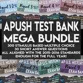 APUSH Stimulus Based Multiple Choice Short Answer Text Bank Full Year Bundle