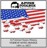 APUSH Student Notes Bundle [1491 to 1877]