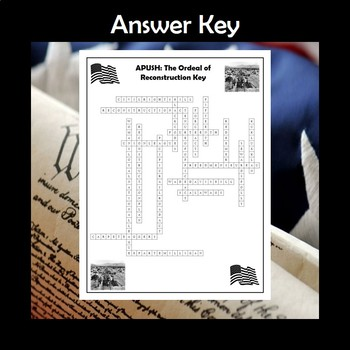 APUSH The Ordeal of Reconstruction Crossword Review