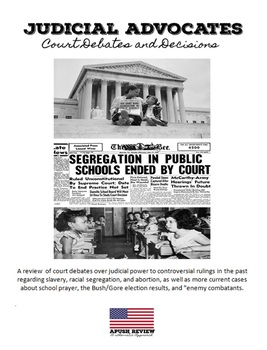 APUSH Thematic Review  - The  Supreme Court