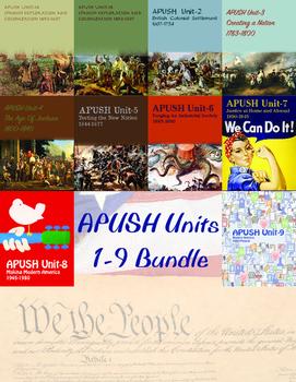 APUSH Units 1-9 Bundle