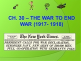 APUSH- WWI Powerpoint and Guided Notes