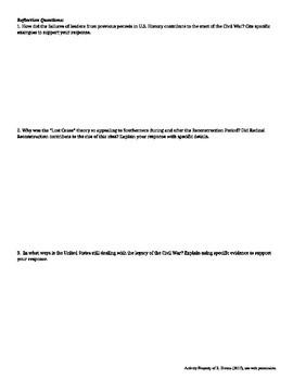 APUSH Writing Analytical Statements: Antebellum Through Reconstruction