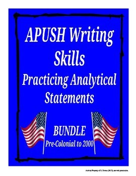 APUSH Writing Analytical Statements: BUNDLE