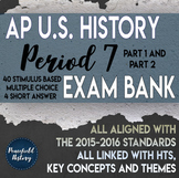 AP US History Period 7 Stimulus Based Multiple Choice Test Bank BUNDLE