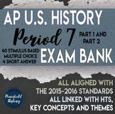 AP US History Period 7 Stimulus Based Multiple Choice Test Bank BUNDLE