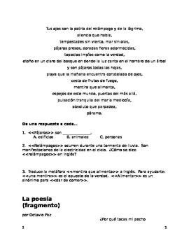 AP/Upper level Spanish: Octavio Paz