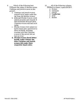 APWH Quiz Rise of Islam 600-1200