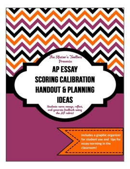 AP Essay Scoring Calibration Handout & Planning Ideas