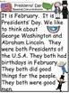 A+Presidents' Day Comprehension: Differentiated Instructi