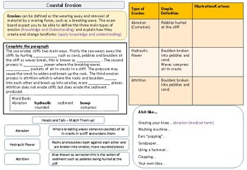 AQA 9-1 Coastal Landscapes, Complete Revision Booklet