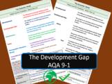AQA 9-1 GCSE Geography - Development Gap Key Vocabulary Re