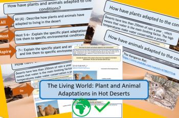 AQA 9-1 Living World: Desert Ecosystem - Plant and Animal Adaptations.