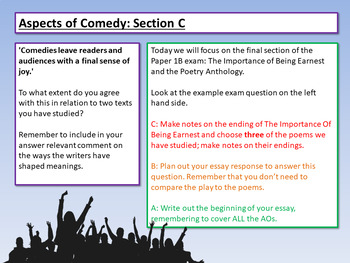 AQA Aspects of Comedy