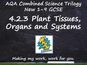 AQA Combined Science Trilogy: 4.2.3 Plant Tissues, Organs and Systems