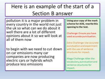 AQA English Language Paper 2 - Punctuation
