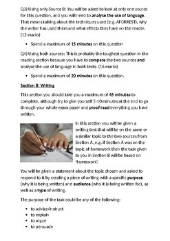 AQA English Language Paper 2 Revision Pack