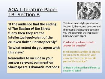 AQA English Literature B : Paper 1 Section B