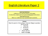 AQA English Literature Paper 2 Unseen poetry