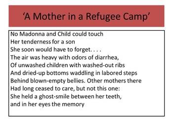 AQA English Literature Paper 2 Unseen poetry practice