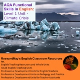 AQA Functional Skills in English: Level 1 Unit - Climate Crisis