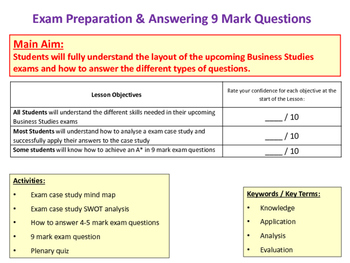 AQA GCSE Business Studies: How to Answer 9 Mark Exam Questions