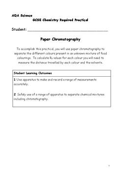 AQA GCSE Chemistry Required Practicals Bundle