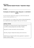 AQA GCSE Chemistry: Temperature changes in a neutralisation reaction