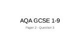 AQA GCSE English 1-9 - Paper 2 Question 3