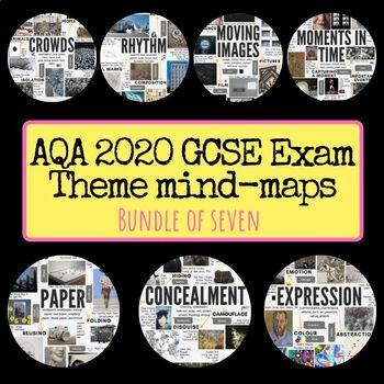 AQA GCSE exam theme interactive mind-maps for 2020 bundle of 7