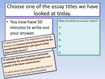 AQA Literature Mock Exam